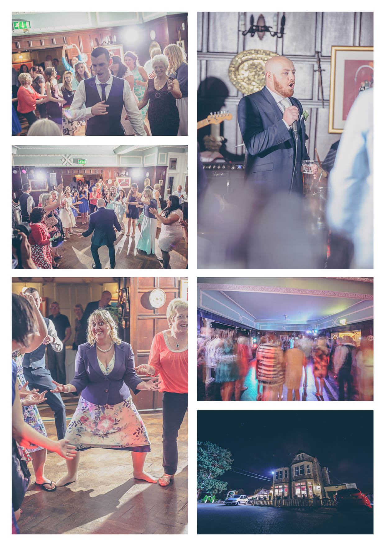 Crazy Dancefloor Photos at Manor House Hotel Penarth Wedding Photographers