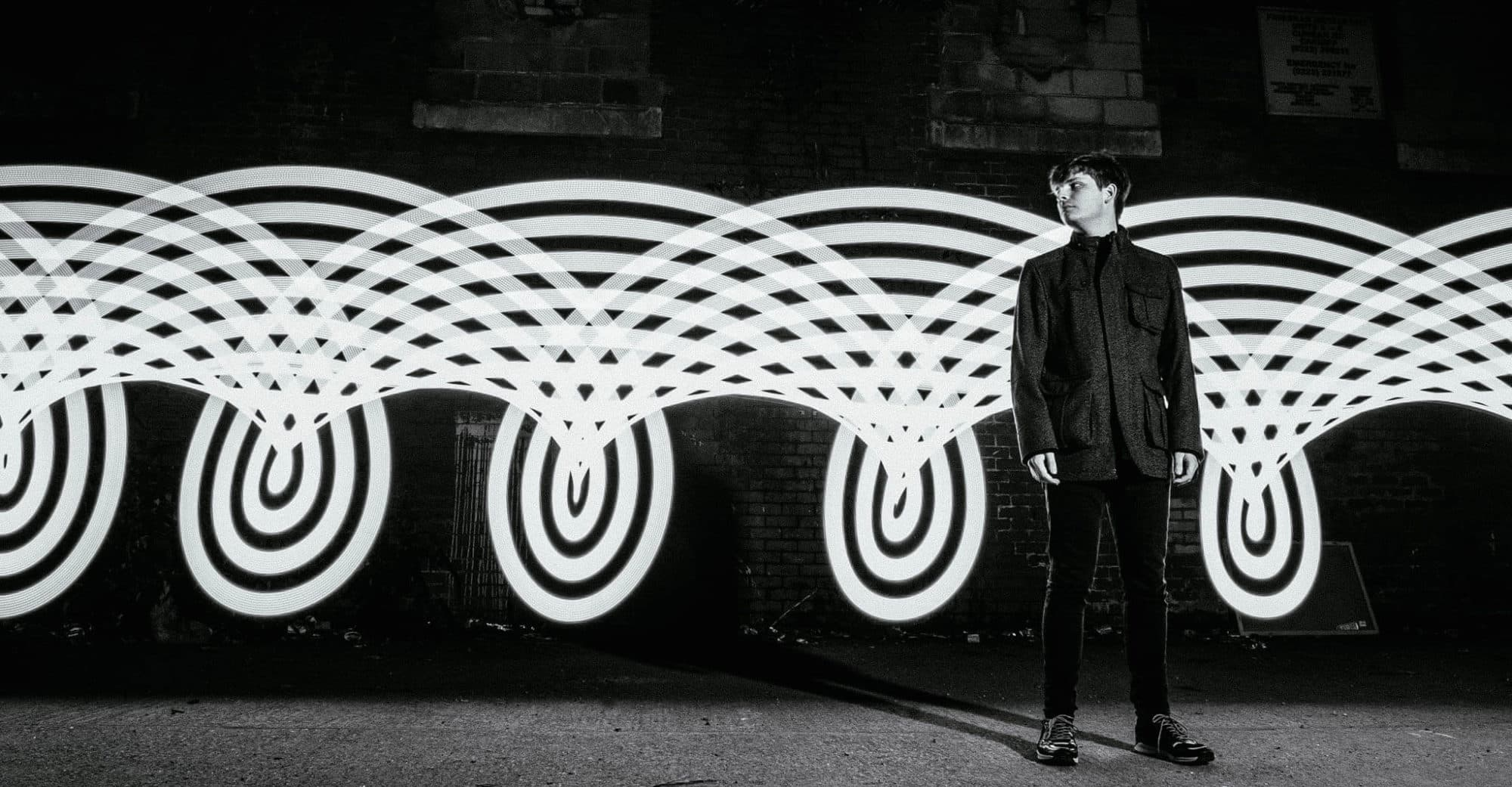 Light painting using a pixelstick by Music Band Photographer Cardiff of artist Midtide