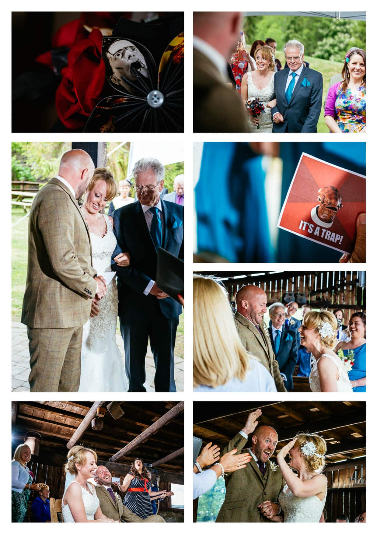 Wedding Photographer Wales at Tower Hill Barns Llangollen Wales