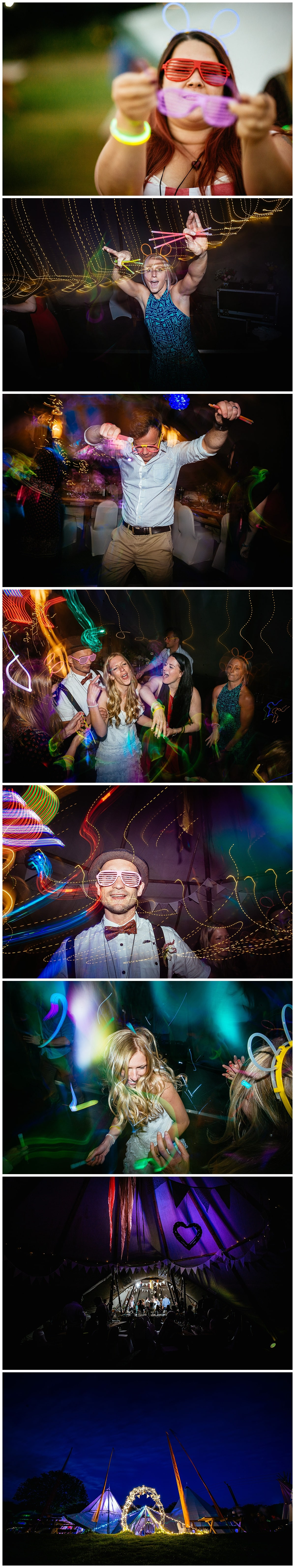 Images of a fun and colourful wedding