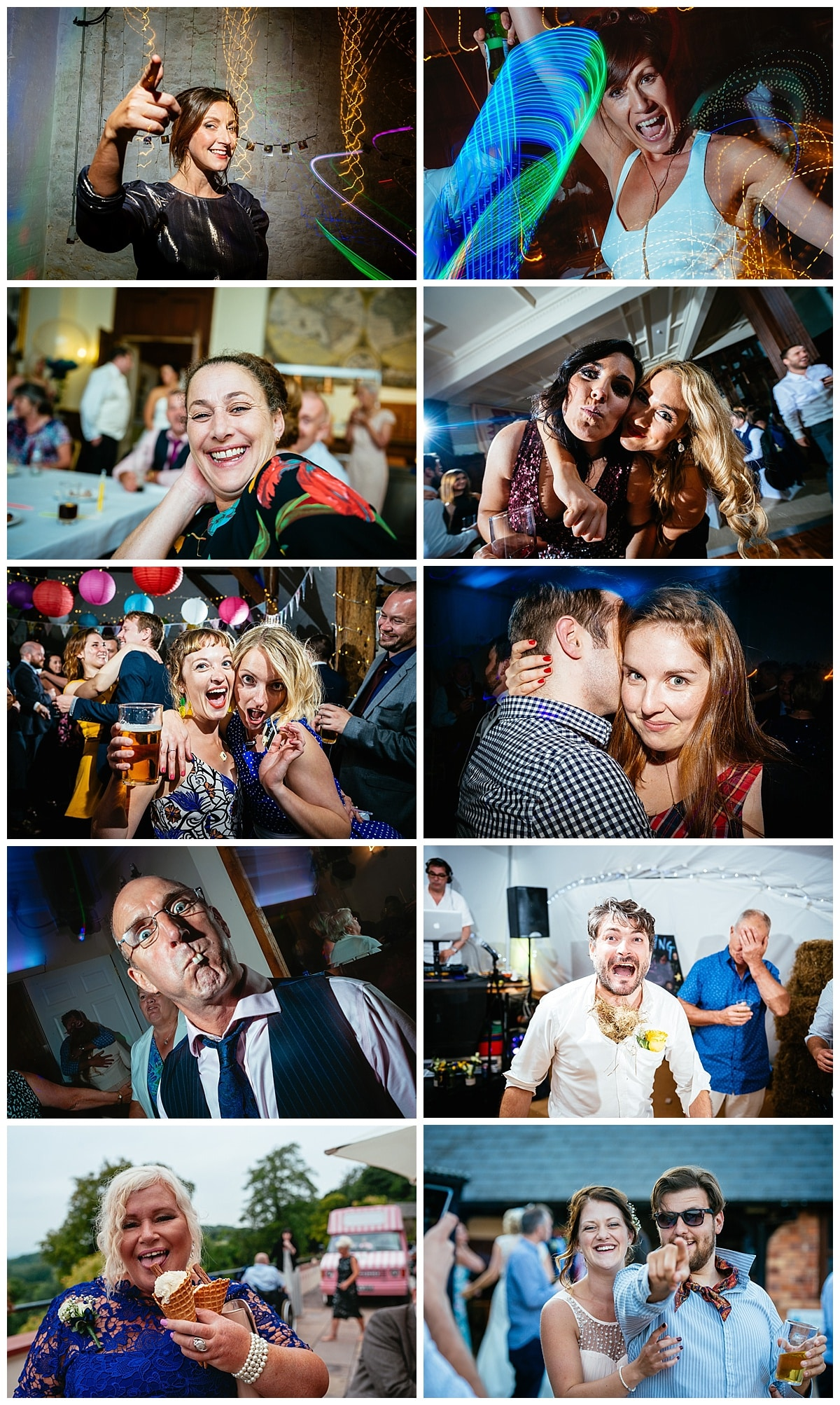 Fun Wedding Photo of Guests Cardiff Wales Bristol Swansea Party Fun Quirky Alternative Photographer
