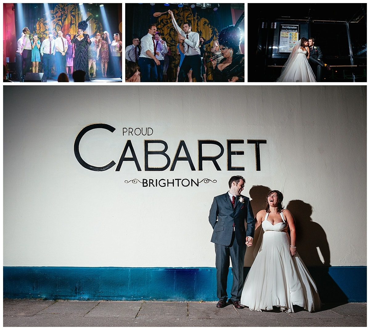 Alternative Wedding Photography Allie & Jordan at the Proud Caberet Brighton