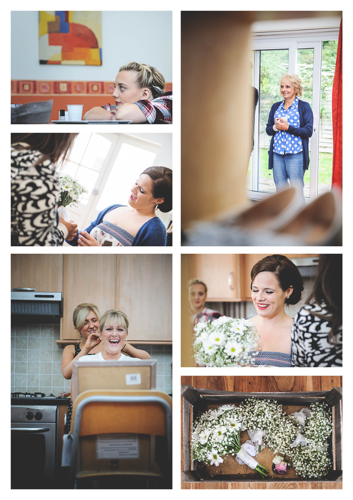 Images of a bride getting ready by Penarth Wedding Photographers