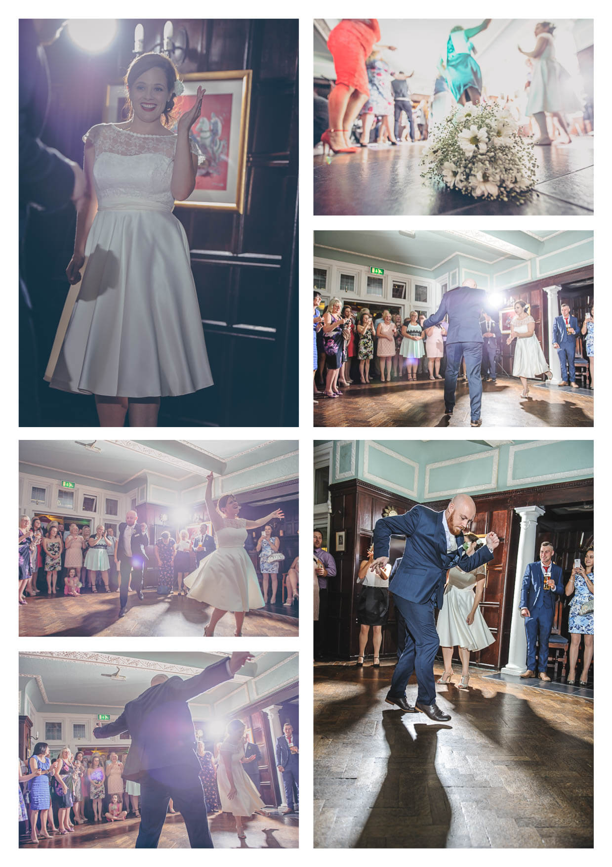 Bride and groom during First Dance at Manor House Hotel Penarth Wedding Photographers
