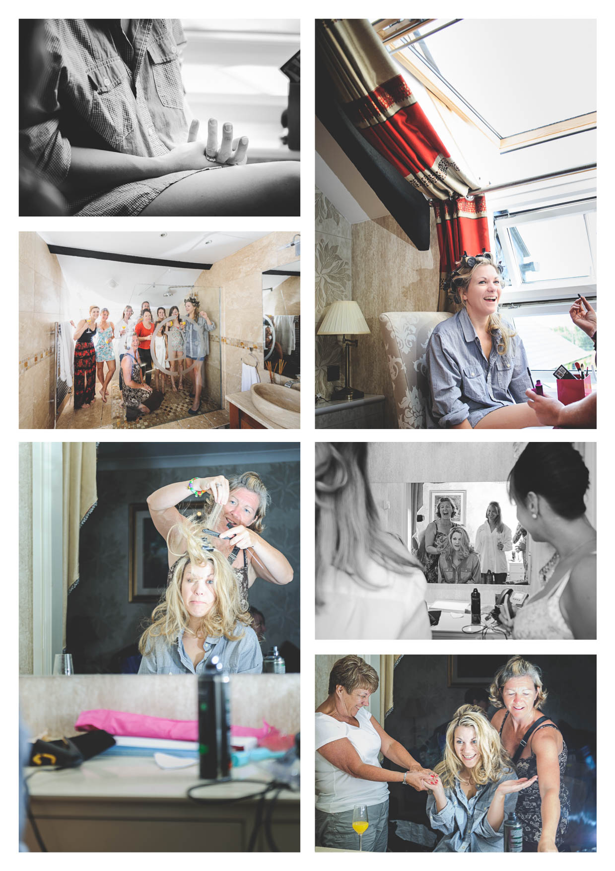 Photos of a bride getting ready for her wedding at llanerch vineyard in the vale of glamorgan