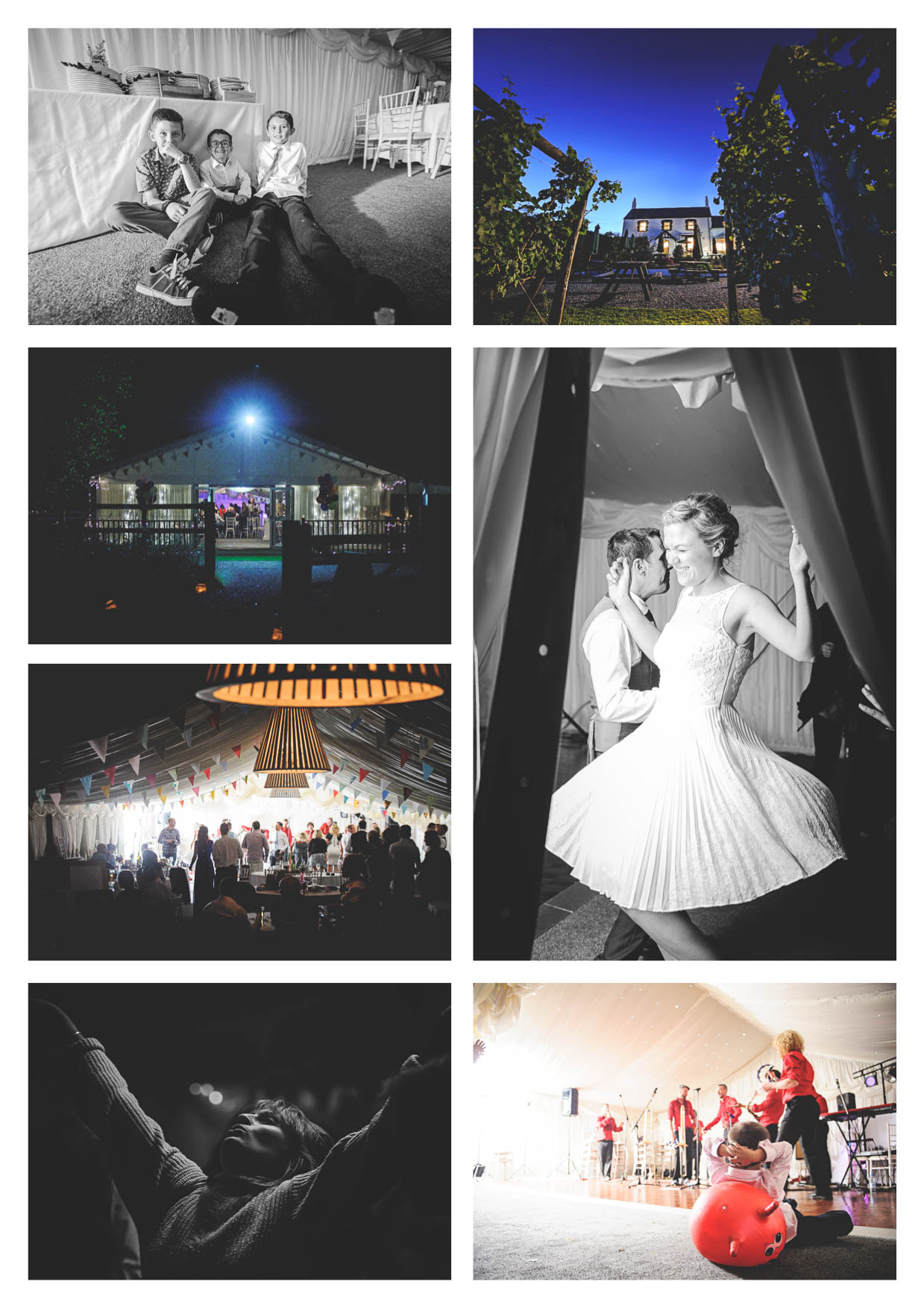 A wedding at llanerch vineyard with the evening celebrations within the marquee