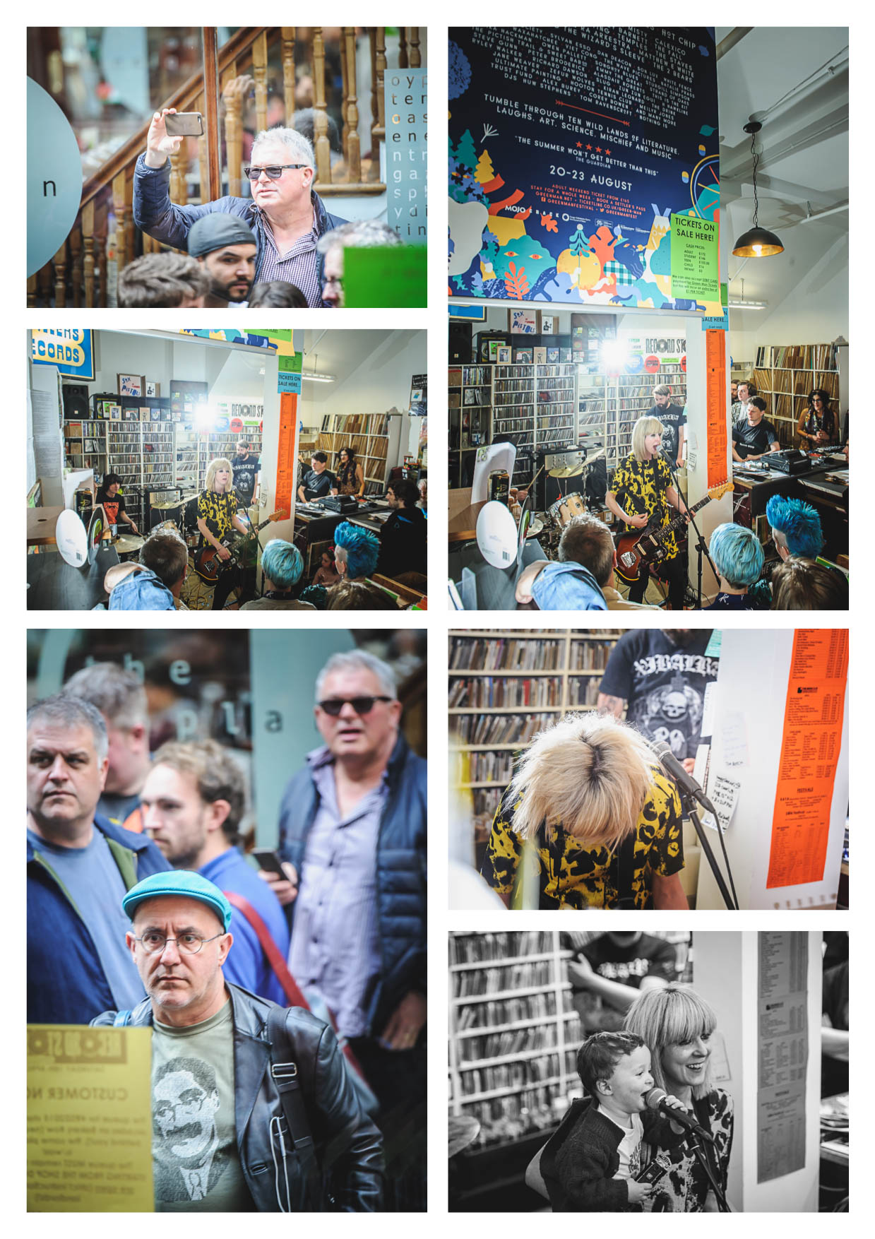 Fans watching The Lovely Eggs in Spillers Records on RSD 2015