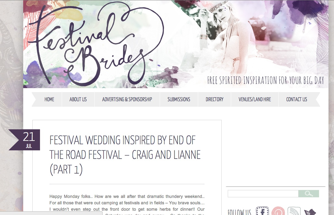 Festival Brides South Wales Photographer