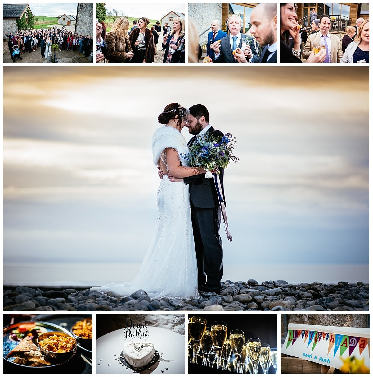 Rosedew Farm - Farmer's Barns - Alternative Wedding Photography - South Wales