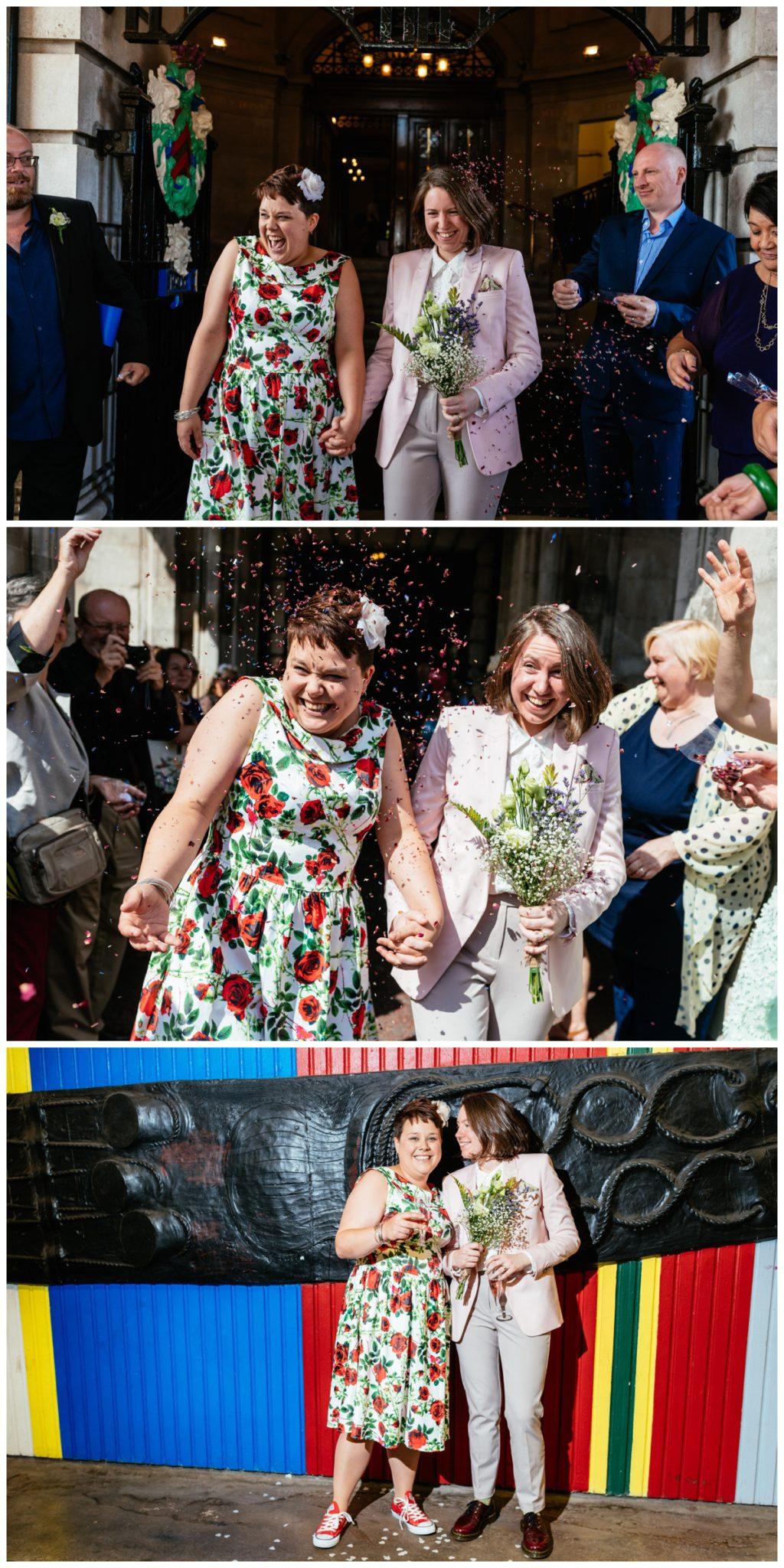 Alternative Same Sex City Hall Wedding Photography Cardiff, South Wales