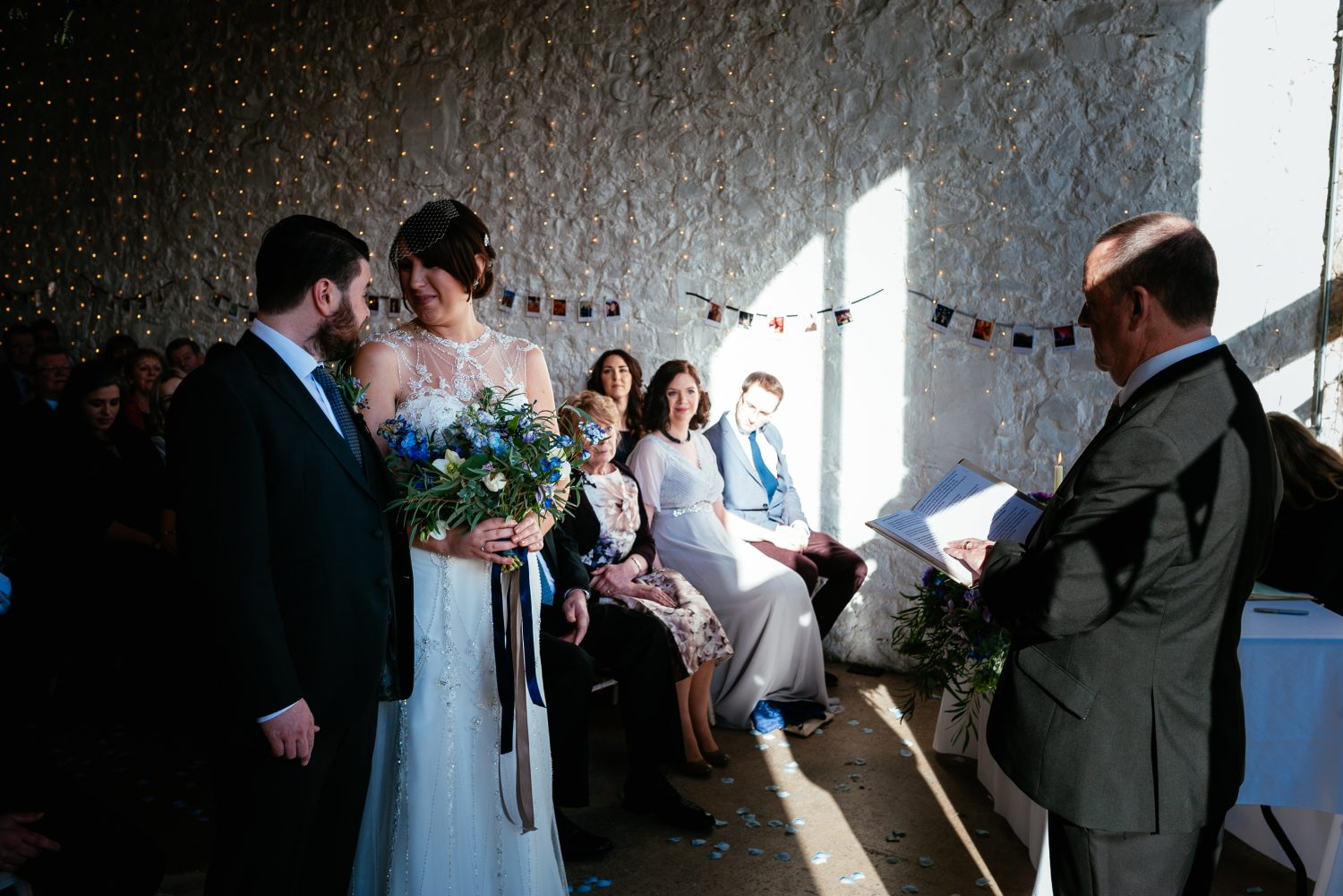 Ceremonies in the Farmer's Barn benefit from beautiful natural sunlight